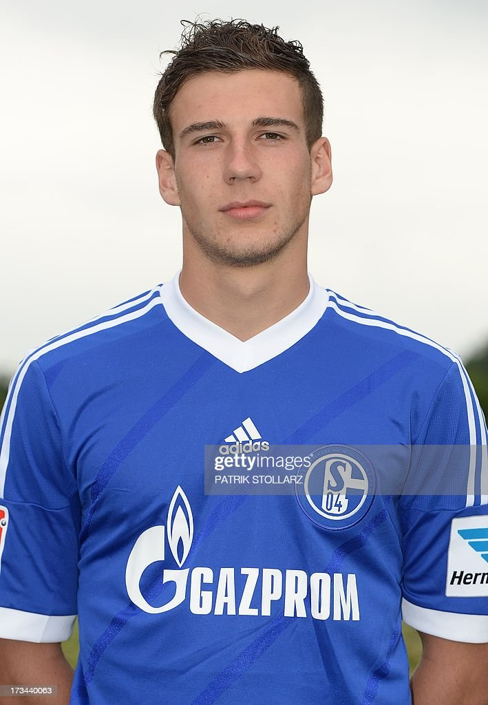 Schalke's midfielder Leon Goretzka poses during a team photo call of German first division Bundesliga football club Schalke 04, on July 10, 2013 at the grounds of the former coal mine 'Consolidation' in Gelsenkirchen, western Germany. AFP PHOTO / PATRIK STOLLARZ
