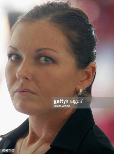 Schapelle Corby reacts after being sentenced to 20 years in jail in a Denpasar courtroom on May 27 2005 in Denpasar on the resort island of Bali...