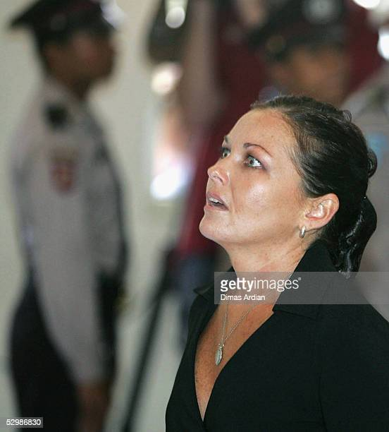 Schapelle Corby reacts as she is sentenced to 20 years in jail in a Denpasar courtroom on Friday May 27 2005 in Denpasar on the resort island of Bali...