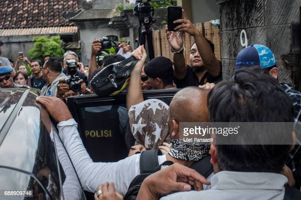 Schapelle Corby walks into a car as she prepares for deportation from Indonesia at her villa where is currently living on May 27 2017 in Bali...