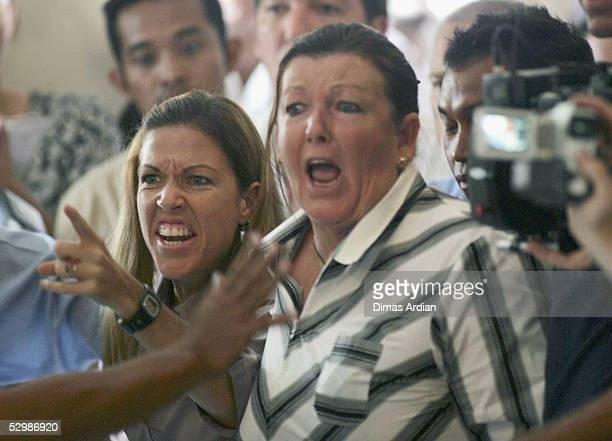 Schapelle Corby's mother Roseleigh Rose and sister Mercedes Corby shouts as her daughter is sentenced to 20 years in jail in a Denpasar courtroom on...
