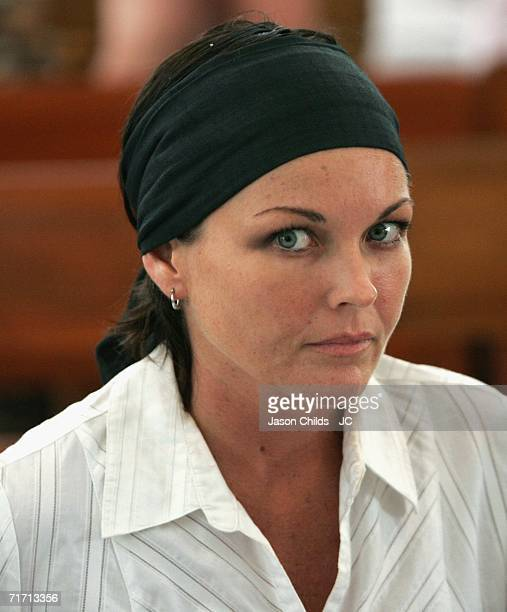 Schappelle Corby listens to proceedings in Denpasar District Court August 25 2006 in Denpasar Bali Indonesia Corby's defence team won the right to...