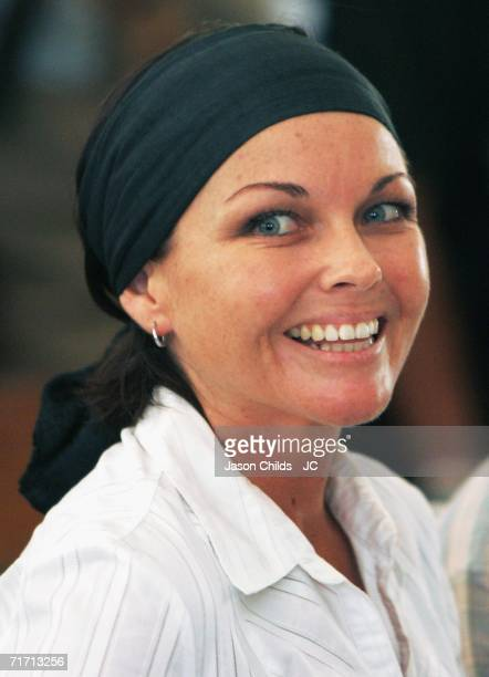 Schappelle Corby smiles while seated in Denpasar District Court August 25 2006 in Denpasar Bali Indonesia Corby was reacting to hearing that her...