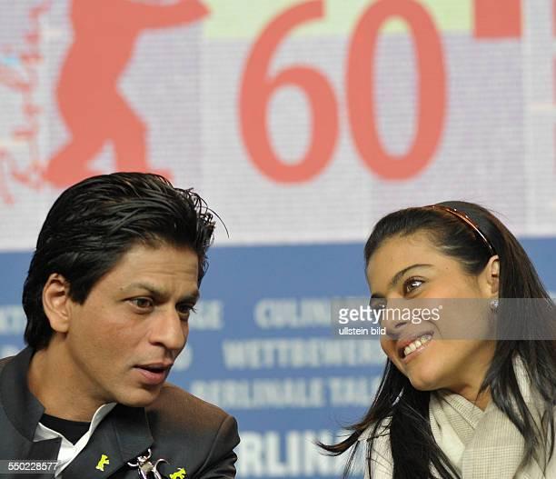 Schauspieler Shah Rukh Khan und Schauspielerin Kajol Devgan anlässlich der Pressekonferenz zum Film My Name Is Khan während der 60 Internationalen...