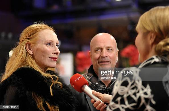Schauspielerin Andrea Sawatzki und Schauspieler Christian Berkel im Interview anlässlich der Verleihung der Filmpreise der 63 Internationalen...