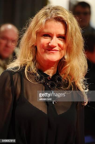Schauspielerin Barbara Sukowa bei der Filmpremiere von Hannah Arendt in der Lichtburg in Essen