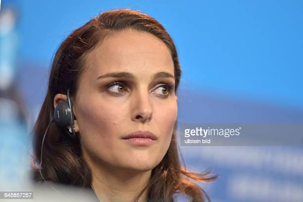 Schauspielerin Natalie Portman während der Pressekonferenz zum Film KNIGHT OF CUPS anlässlich der 65 Internationalen Filmfestspiele Berlin