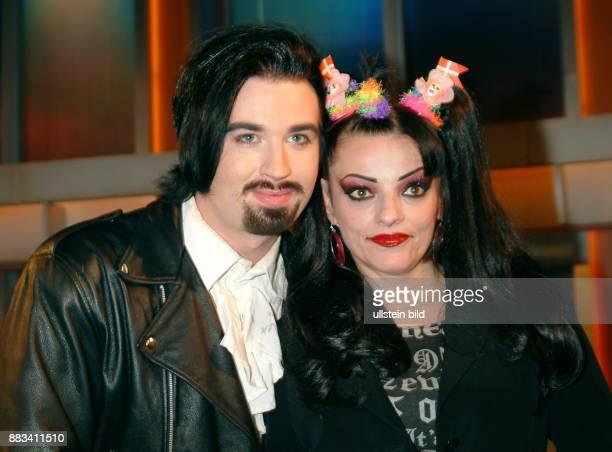 Schauspielerin Sängerin D mit ihrem Ehemann Rocco Alexander Breinholm