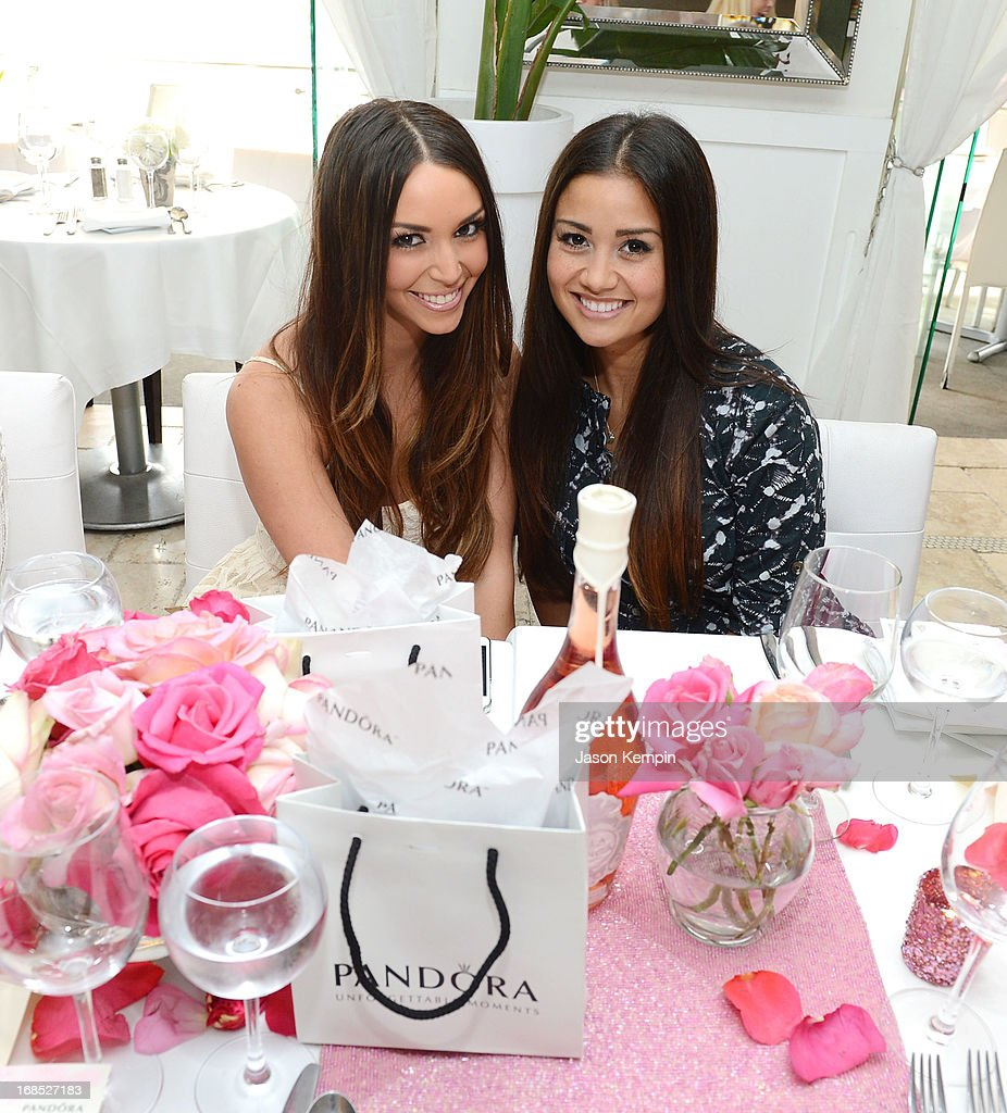Scheana Marie and Catherine Giudici attend the PANDORA jewelry Mothers Day celebration with the Vanderpumps on May 6, 2013 in Beverly Hills, California.