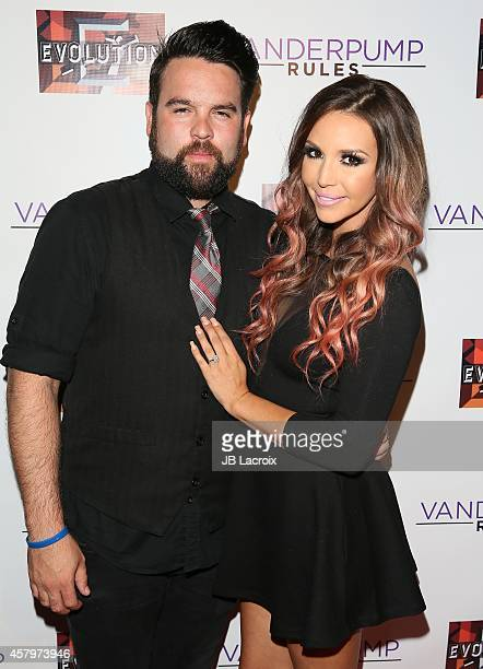 Scheana Marie and Michael Shay attend 'Vanderpump Rules' Season 3 cast and crew party held at SUR Lounge on October 27 2014 in West Hollywood...