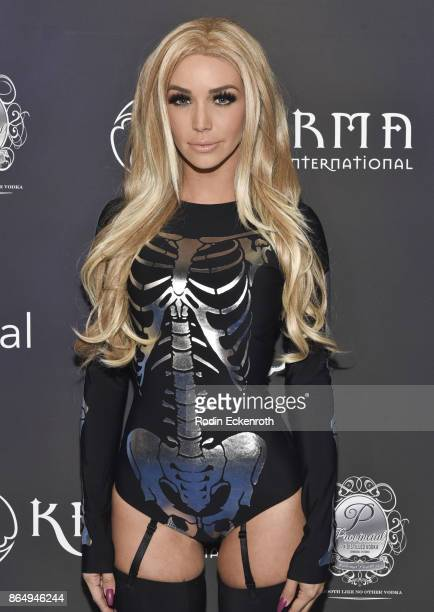 Scheana Marie arrives at the 2017 MAXIM Halloween Party at LA Center Studios on October 21 2017 in Los Angeles California