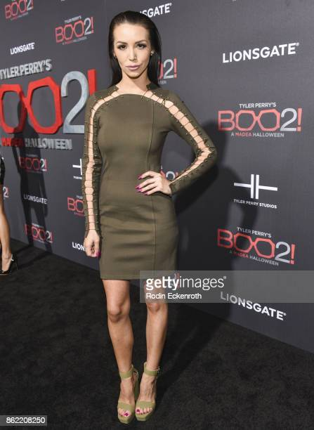 Scheana Marie arrives at the premiere of Lionsgate's 'Tyler Perry's Boo 2 A Madea Halloween' at Regal LA Live Stadium 14 on October 16 2017 in Los...