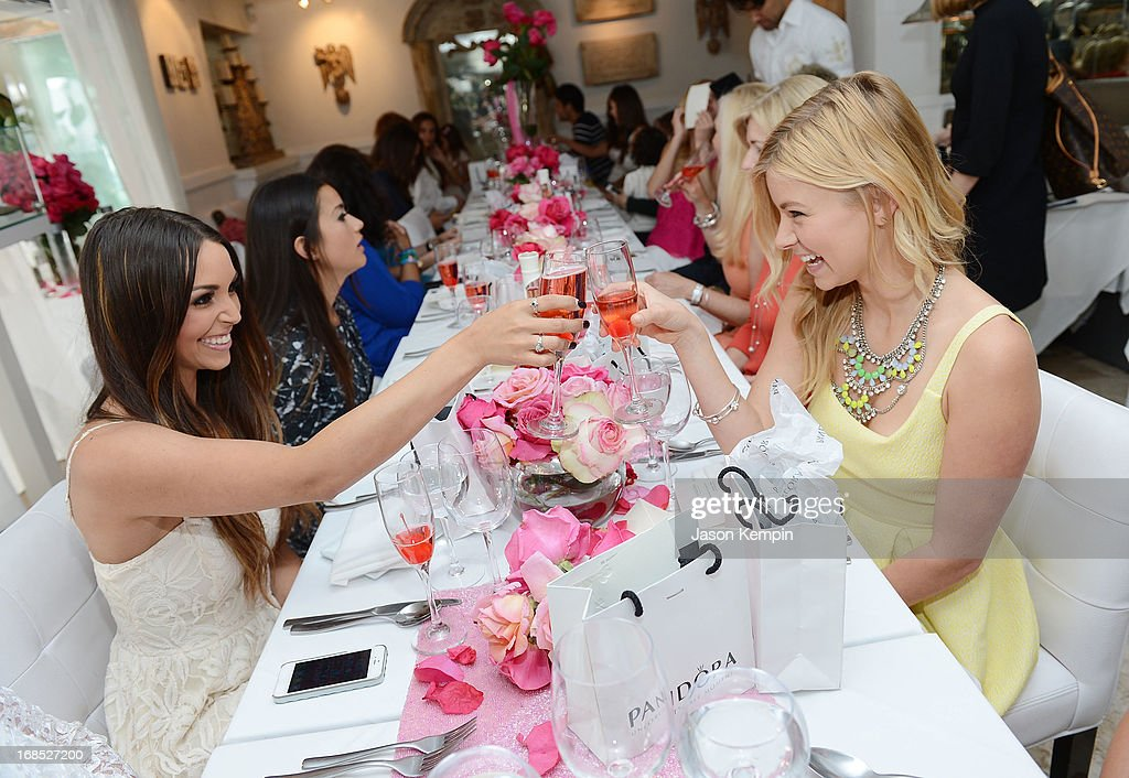 Scheana Marie, Catherine Giudici and Ariana Madix attend the PANDORA jewelry Mothers Day celebration with the Vanderpumps on May 6, 2013 in Beverly Hills, California.