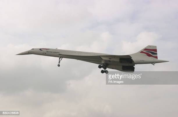 A scheduled British Arways Concorde arriving at London's International Airport from New York after an Air France Concorde crashed soon after takeoff...
