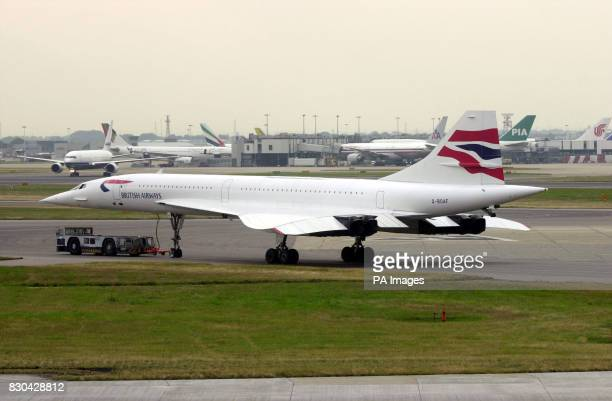 A scheduled British Arways Concorde recently arrived at London's International Airport from New York after an Air France Concorde crashed soon after...