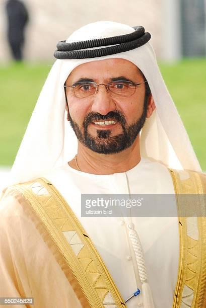 Scheich Mohammed bin Rashid al Maktoum bei seiner Ankunft in Berlin