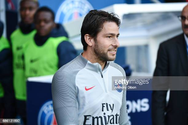 Scherrer Maxwell of PSG during the Ligue 1 match between Paris SaintGermain and SM Caen at Parc des Princes on May 20 2017 in Paris France