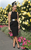 Scherri Lee Biggs at the Myer Marquee on Derby Day at Flemington Racecourse on November 1 2014 in Melbourne Australia