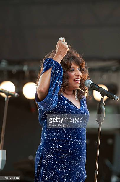 Scherrie Payne and Formerly of the Supremes performs during the Jazz A Vienne festival on July 8 2013 in Vienne France