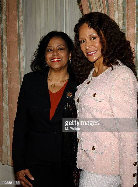 Scherrie Payne and Freda Payne during Luncheon Honoring David Gest's Upcoming Autobiography at Four Seasons Hotel in Los Angeles California United...