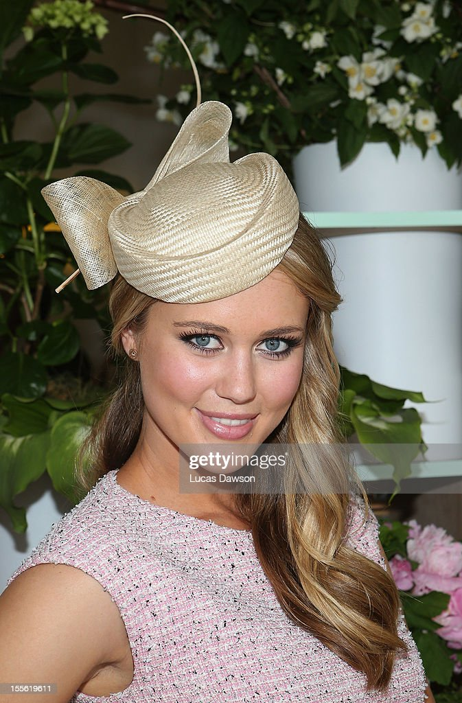 Scherri-Lee Biggs attends the Myer marquee at the Melbourne Cup at Flemington Racecourse on November 6, 2012 in Melbourne, Australia.