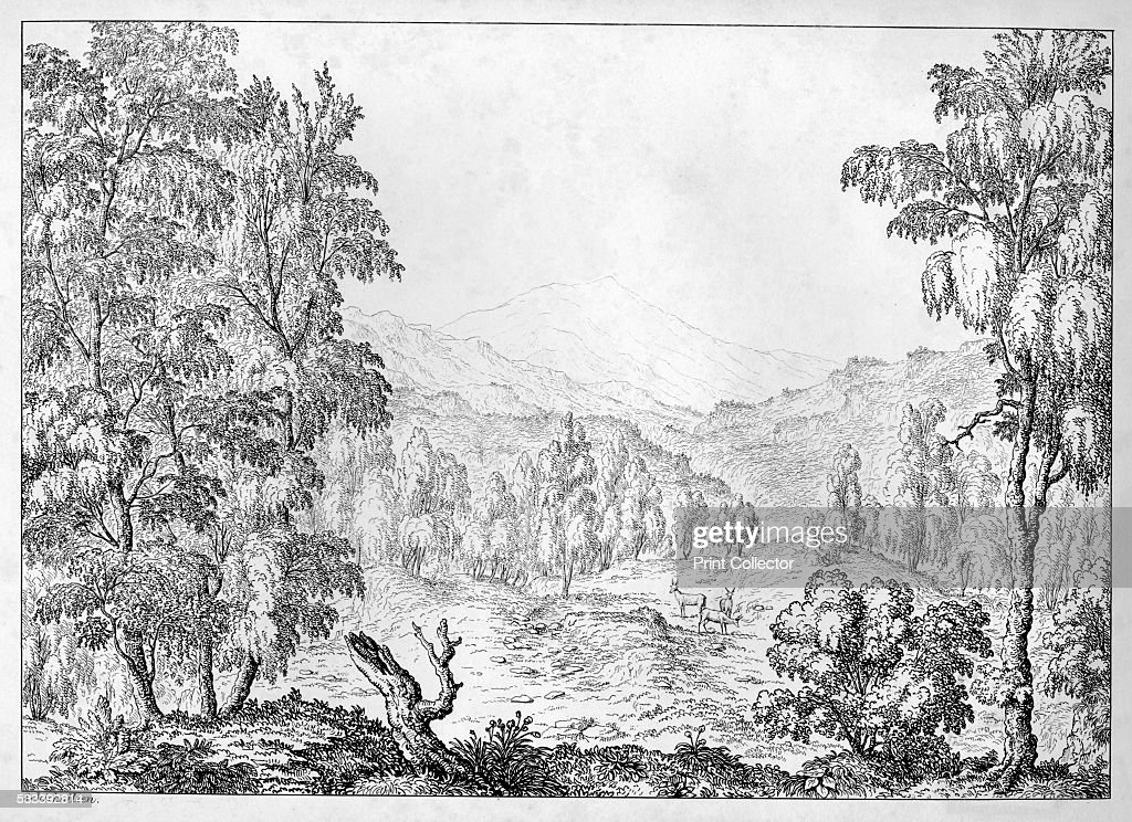 Schichallien' from 'Scenery of the Highlands and Islands of Scotland' by Lt Col W Murray c1812 Schiehallion is a mountain in Perth and Kinross
