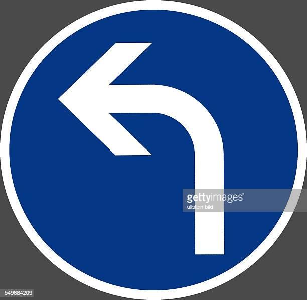 Schild links Abbiegen