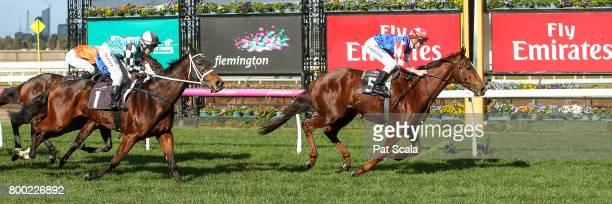 Schism ridden by Beau Mertens wins the Loddon Mallee Region Handicap at Flemington Racecourse on June 24 2017 in Flemington Australia
