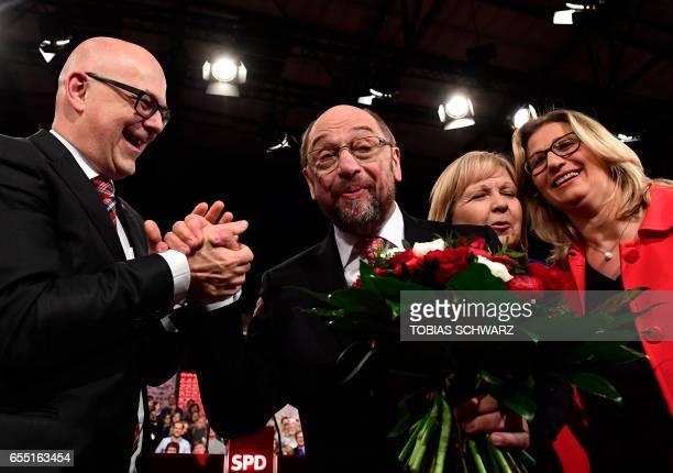SchleswigHolstein State Premier Torsten Albig new Germany's social democratic SPD party chief Martin Schulz NorthRhine Westphalia's state Premier...