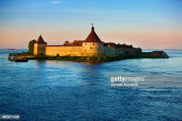 Schlisselburg fortress at Lake Ladoga