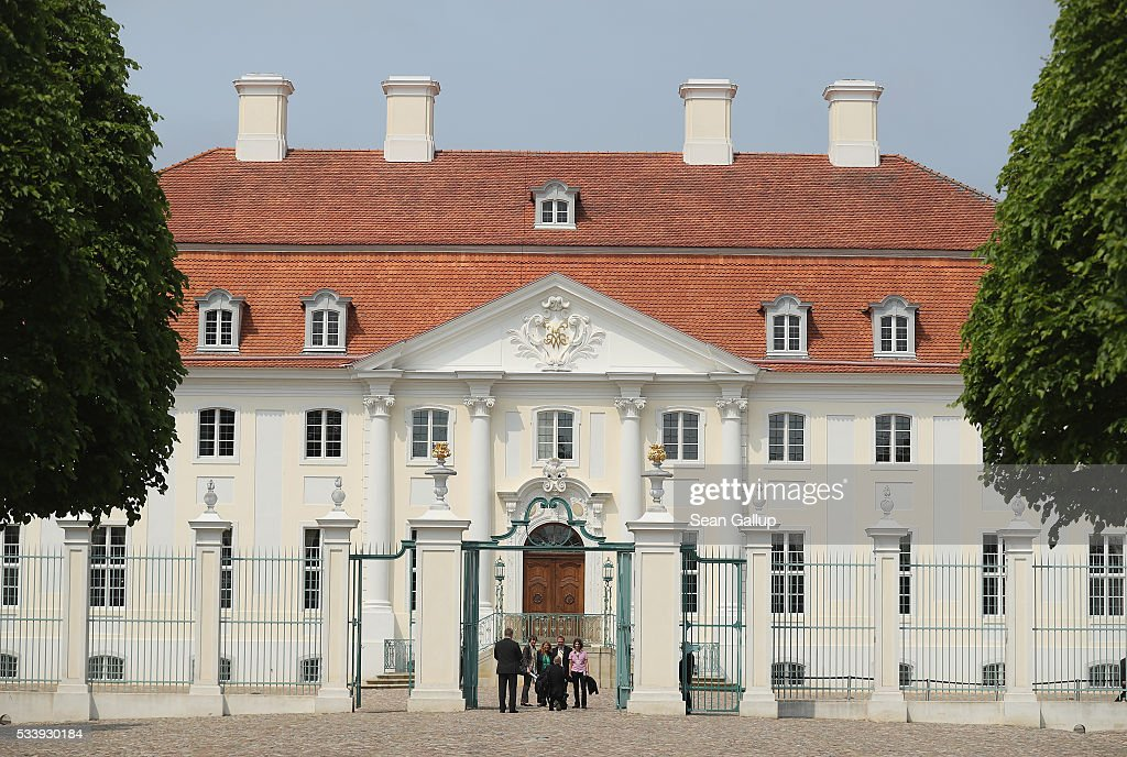 Schloss Meseberg palace stands on May 24, 2016 near Gransee, Germany. The government cabinet is meeting at Schloss Meseberg for a two-day retreat.