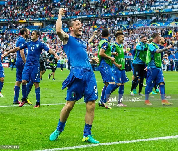 Monntag Europameisterschaft in Frankreich Paris Achtelfinale Italien Spanien 20 schlussjubel Alessandro Florenzi