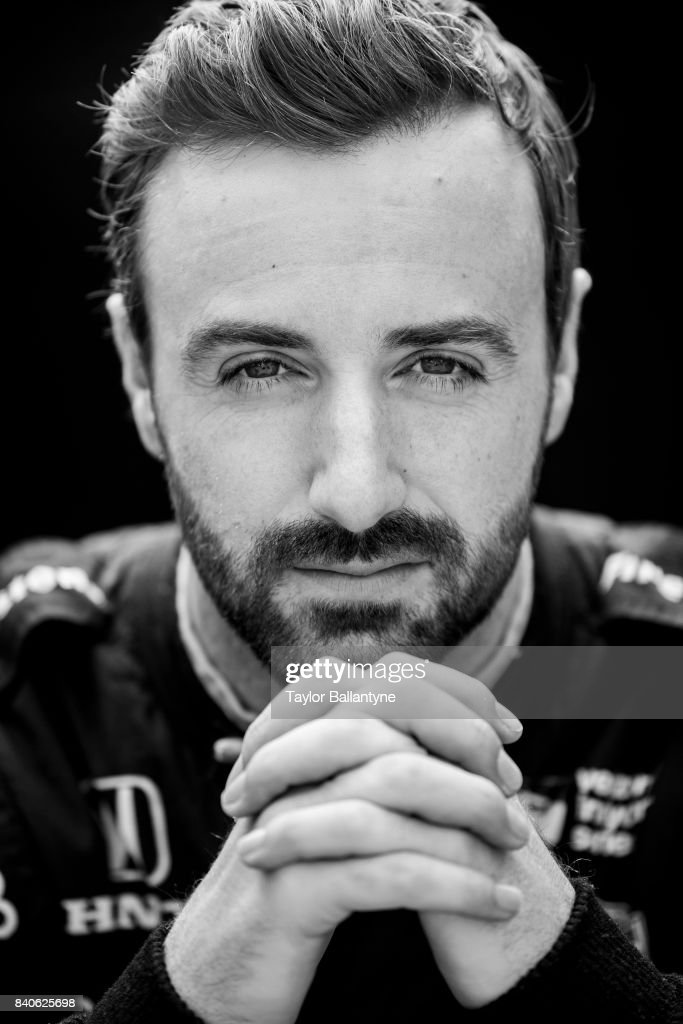 Schmidt Peterson Motorsports driver James Hinchcliffe is photographed for Sports Illustrated on August 20, 2017 at Pocono Raceway, Verizon IndyCar Series, at Long Pond, Pennsylvania. (Set Number: X161328 TK3 )