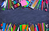Composition Of Multicolored Stationery