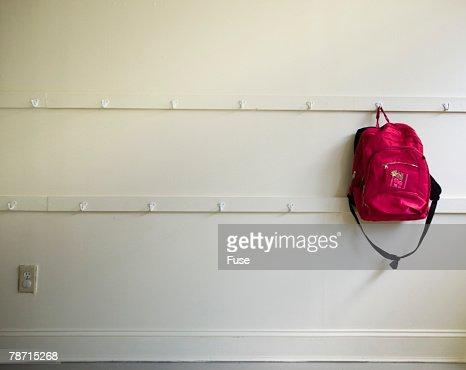 School Backpack on Hook