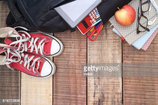 School, Tasche, Rucksack. : Stock-Foto