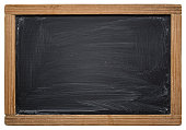 School blackboard isolated on white -Clipping Path
