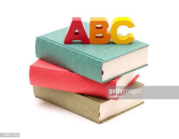 学校書籍とアルファベット