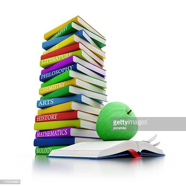 学校書籍、グリーンアップル