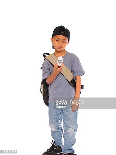 School Boy on Cellular Phone 2
