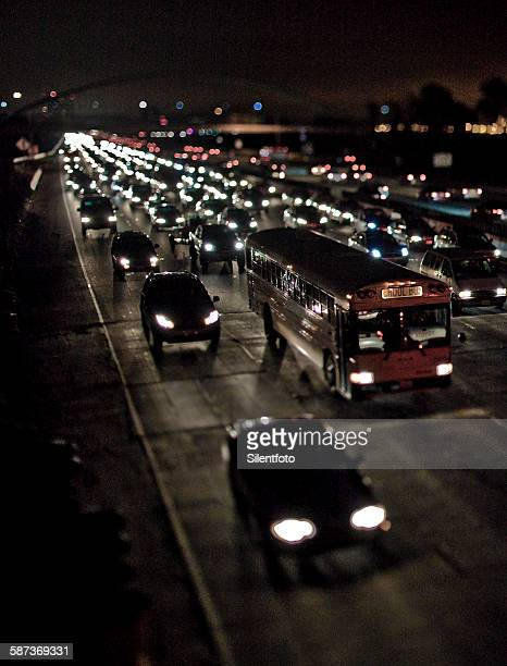 School Bus in Heavy Evening Traffic