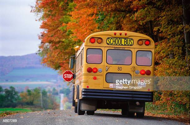 School bus on country road