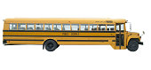 School bus with clipping path