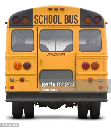 school bus with work path
