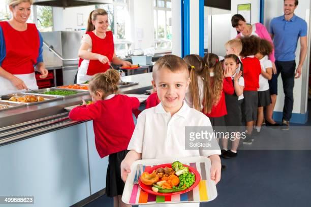 School Caferteria Line