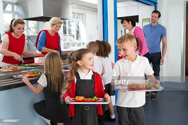La cafétéria de l'école