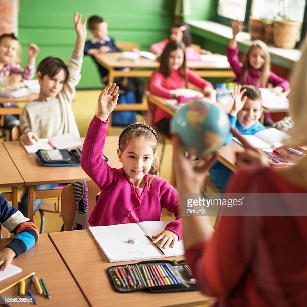 School children on a lesson.