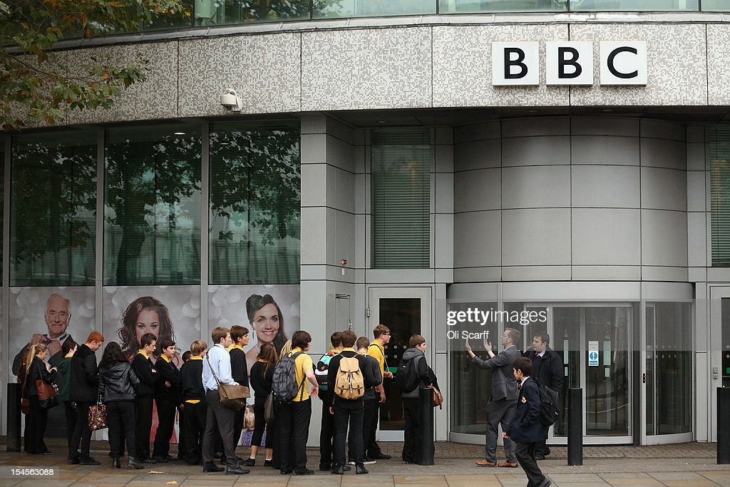 School children queue to enter BBC Television Centre on October 22, 2012 in London, England. The BBC producer in charge of a Newsnight documentary into sexual abuse allegations concerning Sir Jimmy Savile, the transmission of which was subsequently dropped, had warned his editor that the BBC could be accused of a cover-up. Police confirmed that the sir Jimmy Savile, the BBC presenter and DJ who died in October 2011 aged 84, may have sexually abused children on BBC premises.