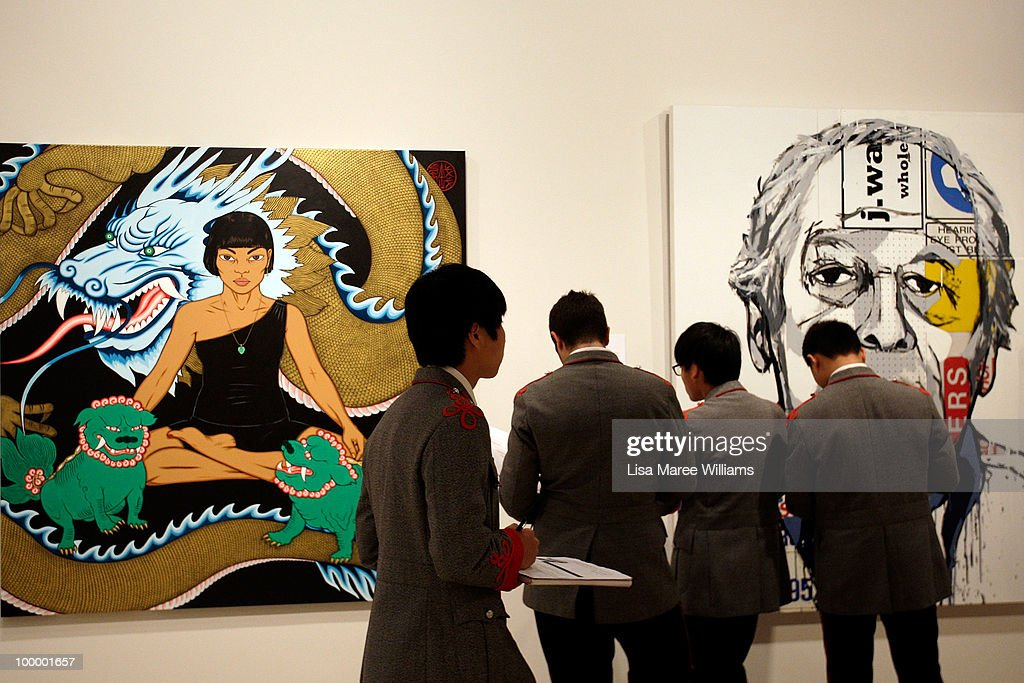 School children visit the Archibald Prize collection prior to the announcement of the People's Choice Prize at the Art Gallery Of NSW on May 20, 2010 in Sydney, Australia. The award, an additional category of the Archibald Prize, was voted by the viewing public and comes with a monetary prize of AUD