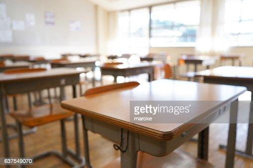 School classroom with blackboard : Foto stock